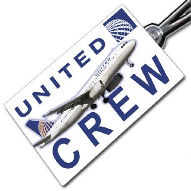 United Airlines A320 Crew Tag